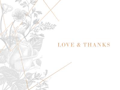 Thank You Card Design