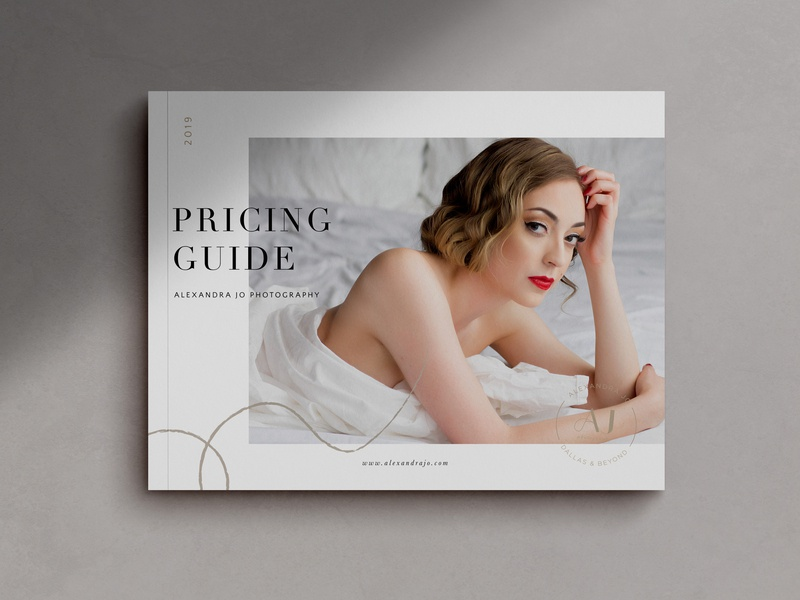 Boudoir Photography Pricing Guide photography branding magazine cover magazine design layout pricing guide