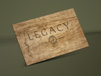 Wood Business Card Design