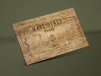 Wood Business Card Design for Fence Company