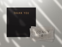 Fence Company Thank You Card + Wood Business Card Design