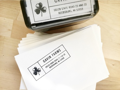 Gavin Farms Custom Address Stamp