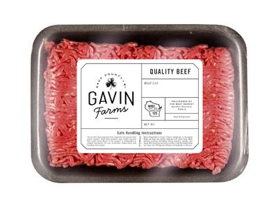 Gavin Farms Meat Packaging Label