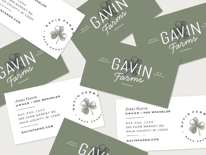 Gavin farms business cards by rebekah disch dribbble branding for a family farm in sauk county wisconsin colourmoves