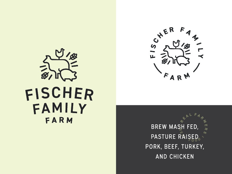 Fischer Family Farm - Round 1 Logo farm logo identity branding farm brand modern farm logo