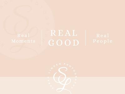 Sarah Linden Photography photographer logo design feminine minimal mark monogram branding tagline badge logo photography branding