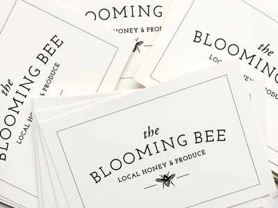 The Blooming Bee Logo