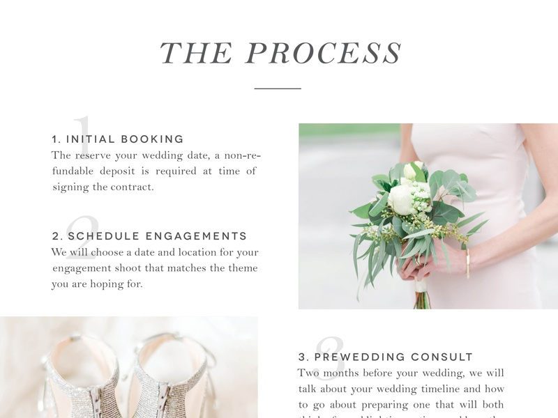 Jenny B Photography Publication pricing guide photographer brand layout design publication price sheet