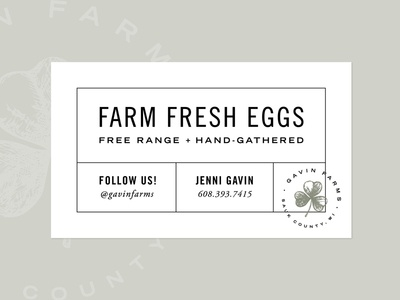 Gavin Farms Egg Punch Card