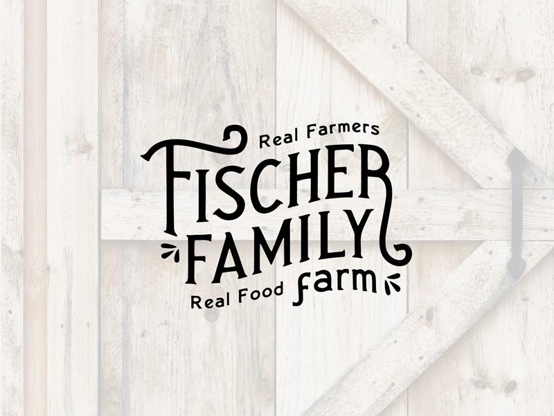 Fischer Family Farm - Final Logo vintage logo farmer cattle farm brand farm logo farm