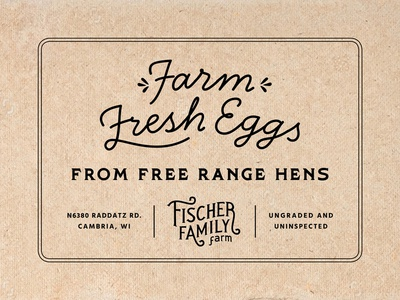 Fischer Family Farm Egg Carton Stamp