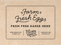 Fischer Family Farm Egg Carton Stamp