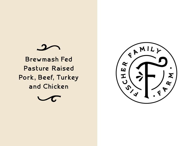 Fischer Family Farm Badge vintage logo farmer cattle farm brand farm
