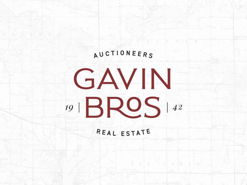 Gavin Bros. Auctioneers   Real Estate rural auctioneer logo real estate logo agriculture auctioneer brand logo real estate