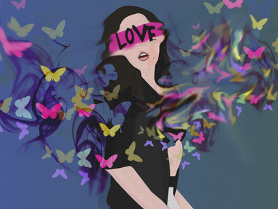 First Shot design character vector fashion abstract daily color love girl illustration