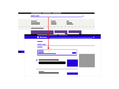 User Flow website bloomberg uiux user flow mockup vector mock daily color ad illustration