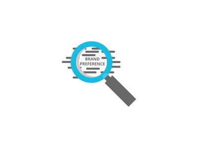 Brand Preference 🕵️ app uiux web illustrator vector magnifying glass daily color icon illustration
