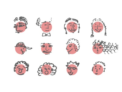 Humans of NY nyc new york humans pink boy girl illustrations people daily color icons illustration
