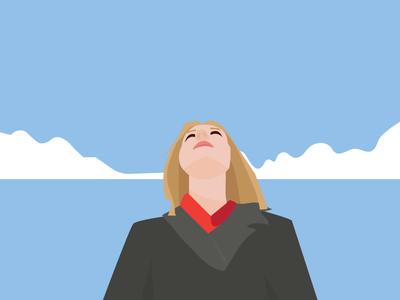 Keep Moving Forward sky motivation design character vector daily color love girl illustration