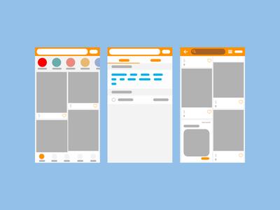 User Flow uiux user flow mockup vector mock daily color app illustration