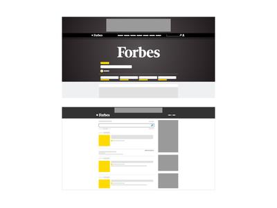 Forbes forbes uiux user flow mockup vector mock daily color website illustration