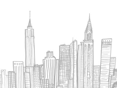 I ♡ NYC buildings vector skyline daily city new york nyc illustration