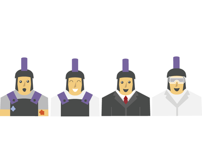 Character for Hackathon warriors warrior purple hackathon character vector daily color logo illustration