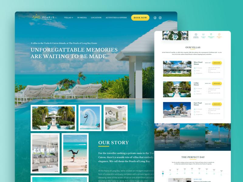 Luxury Villas - website house exotic website design estate property villa luxury webdesign website