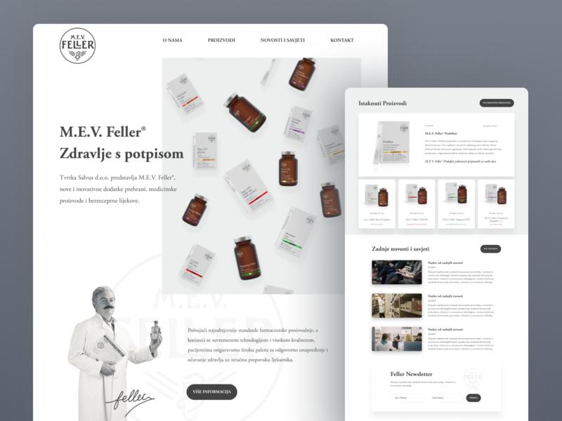 M.E.V Feller - Website / Concept ui webdeisgn web corporate webdesign drugstore medical website pharmacy