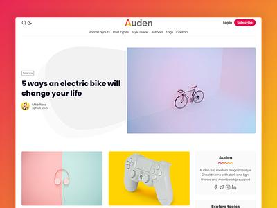 Auden - Ghost Theme premium minimal blog ghost-theme ghost clean