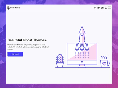 Biron Themes themes ghost premium website minimal clean