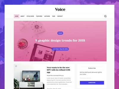 Voice - Ghost Theme ghost-theme ghost blog news magazine minimal clean