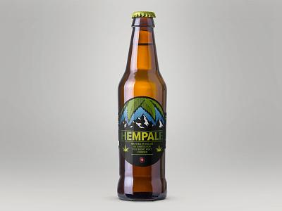 HEMPALE food drink beer label graphic design