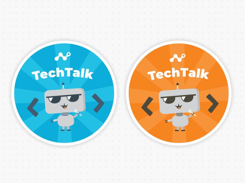 Stickers for Internal Tech Talks illustration