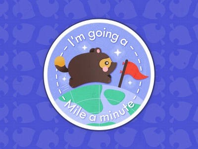 Nook Miles A Minute Badge badgedesign simple flat vector colorful illustrations graphic design lockup logos videogame nintendo switch nintendo new horizons illustartor logo badge illustration fanart nook miles animal crossing