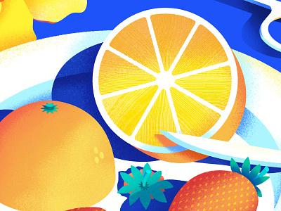 Still Here Still Life 48 basic minimalistic knife cute pattern graphic simple still life strawberry orange fruit graphic design bright texture colorful illustrator flat design illustration vector
