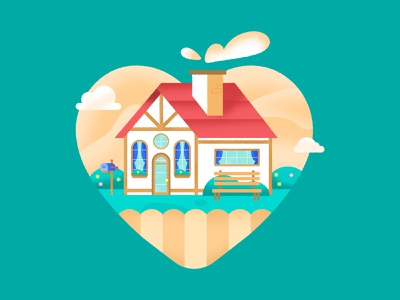 Home is where the heart is spot illustration graphic design vector design vector graphic cute illustration commercial house landscape design housing texture colorful commercial illustration marketing illustration illustrator flat design illustration house design real estate home spot illustration vector