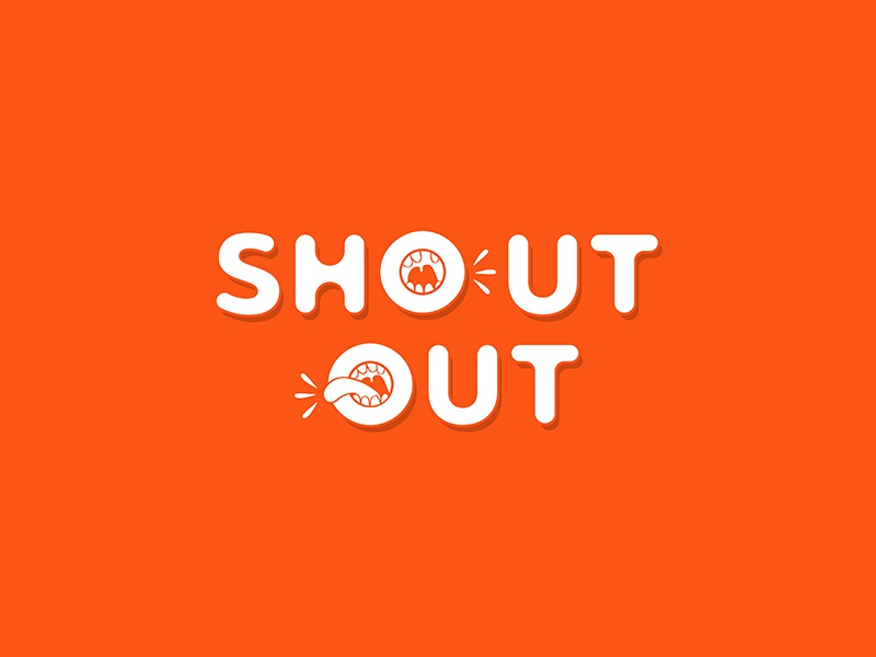 Shout out typography by Kelly Nichols on Dribbble
