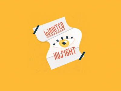 Insight bright simple illustrator flat design vector insight information fail sketch doodle drawing fluid lettering typography illustration folds poster eye practice