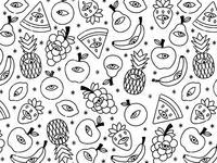Paranoid fruit pattern
