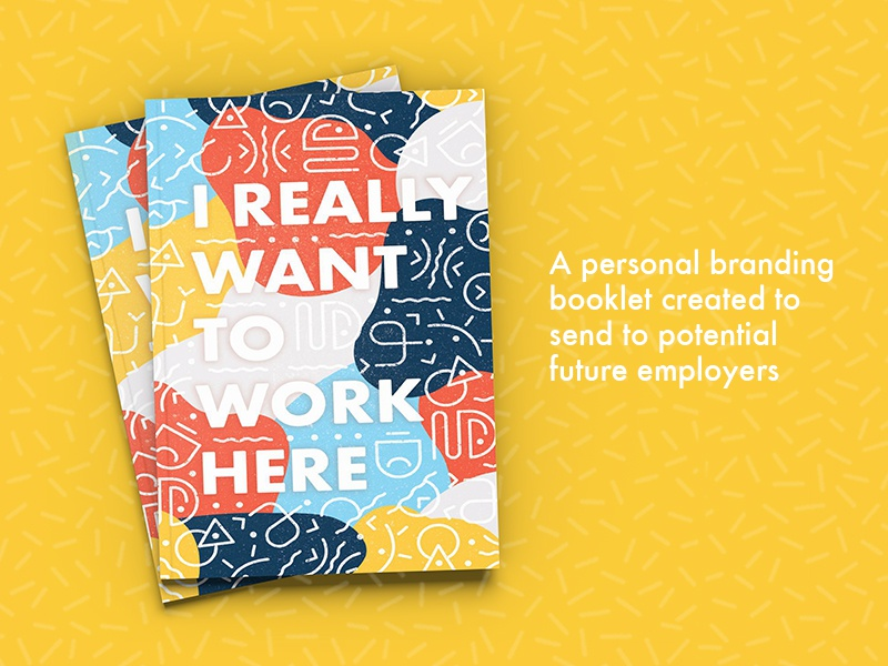 I Really Want to Work Here — Promotional Booklet flat fun cute texture visual brand agency identity branding iconography product print print design design graphic design illustration icons exploration color brand book