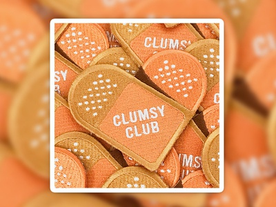 Clumsy Club Badge Patch