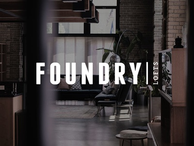 Foundry Lofts Logo logo