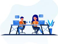 Office work illustrations