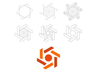 Symbol construction process symbol logo process