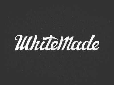WhiteMade Logo whitemade logo naming lettering