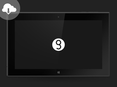 [PSD] Nokia Lumia 2520 Mockup nokia lumia 2520 tablet mockup freebie psd