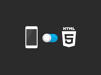 Native or HTML native radarc html icon