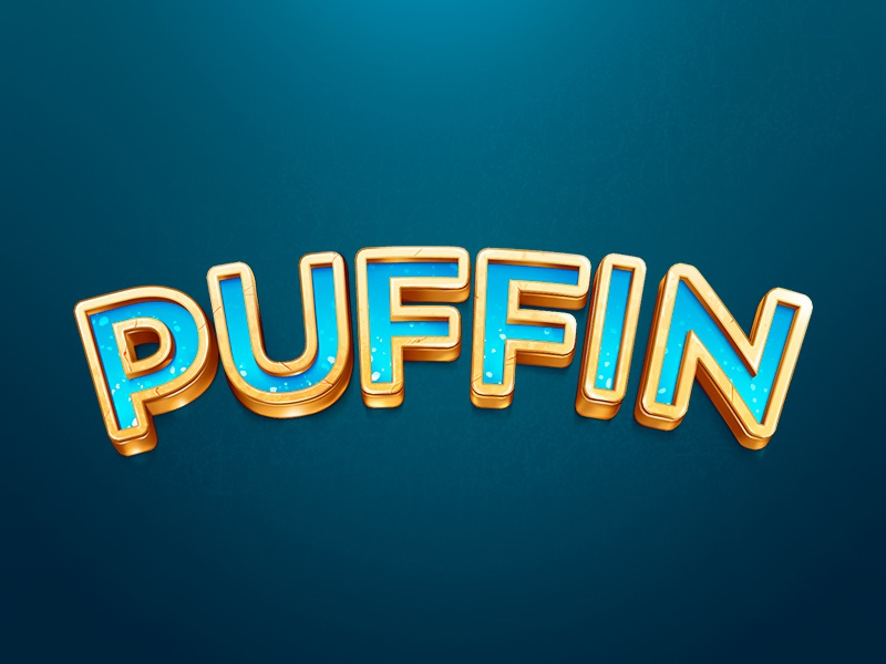 Puffin logo logo puffin cold illustration 3d brilli-brilli