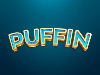 Puffin logo logo puffin cold illustration 3d brilli-brilli